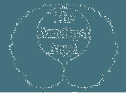amethyst angel logo blue