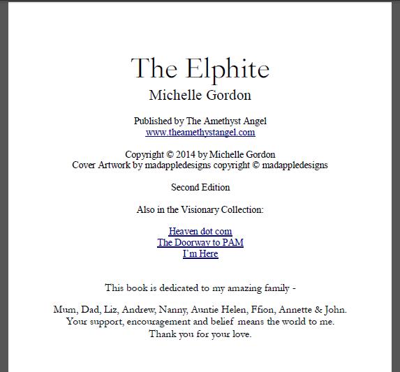 Kindle Front Matter Elphite